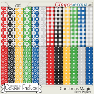 Christmas Magic - Extra Papers by Connie Prince