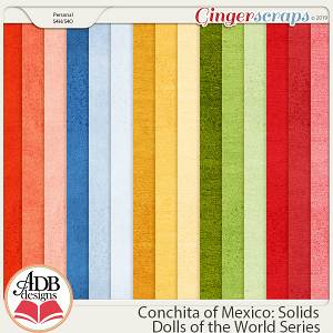 Conchita Solid Papers {DOTW Mexico} by ADB Designs