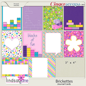 Brickettes Journal Cards by Lindsay Jane