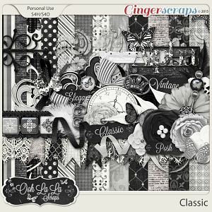 Classic Digital Scrapbooking Kit