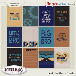 Best Brother - Cards by Aprilisa Designs