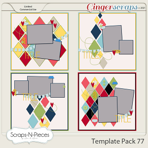 Template Pack 77 by Scraps N Pieces
