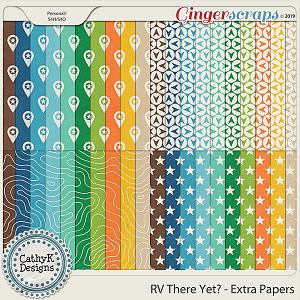 RV There Yet - Extra Papers by CathyK Designs