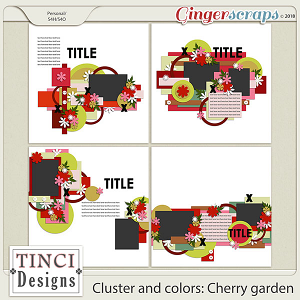 Cluster and colors: Cherry garden