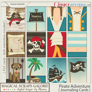 Pirate Adventure (journaling cards)