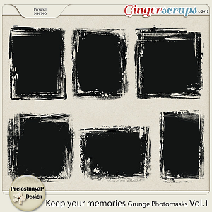 Keep your memories Grunge Photomasks Vol.1