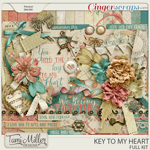 Key to my Heart Full Kit by Tami Miller Designs