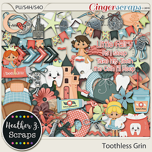 Toothless Grin ELEMENTS by Heather Z Scraps