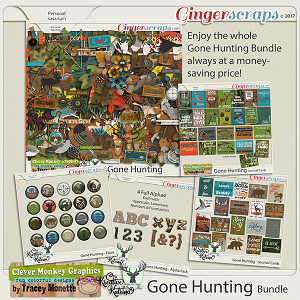 Gone Hunting Bundle by Clever Monkey Graphics  & Kreative Katrina