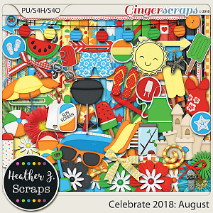 Celebrate 2018: August KIT by Heather Z Scraps