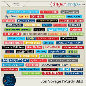 Bon Voyage Word Bits by Miss Fish