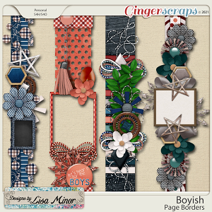 Boyish Page Borders from Designs by Lisa Minor