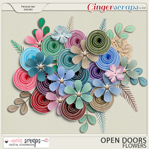 Open Doors - Flowers - by Neia Scraps