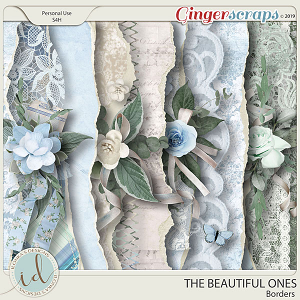 The Beautiful Ones Borders by Ilonka's Designs