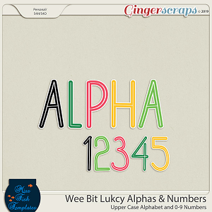 Wee Bit Lucky Alphabets by Miss Fish