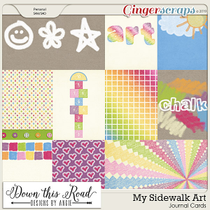 My Sidewalk Art Journal Cards