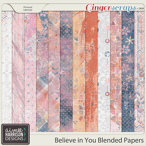 Believe in You Blended Papers by Aimee Harrison