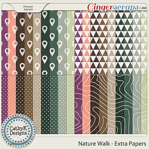 Nature Walk - Extra Papers by CathyK Designs