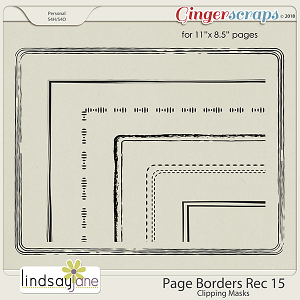 Page Borders Rec 15 by Lindsay Jane