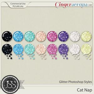 Cat Nap Glitter CU Photoshop Styles