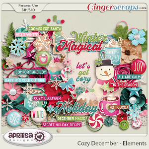 Cozy December - Elements by Aprilisa Designs
