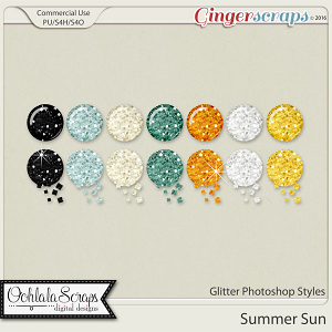 Summer Sun Glitter CU Photoshop Styles