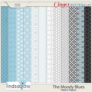 The Moody Blues Pattern Papers by Lindsay Jane