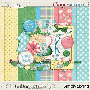 Simply Spring Digital Scrapbook Kit By Dandelion Dust Designs