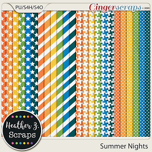 Summer Nights EXTRA PAPERS by Heather Z Scraps