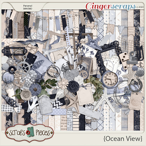 Ocean View Kit - Scraps N Pieces