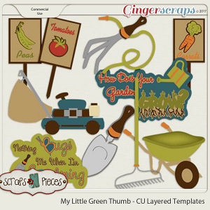 My Little Green Thumb CU Layered Templates - Scraps N Pieces