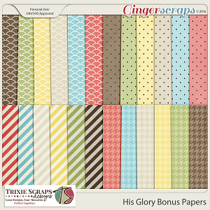 His Glory Bonus Papers by Trixie Scraps Designs