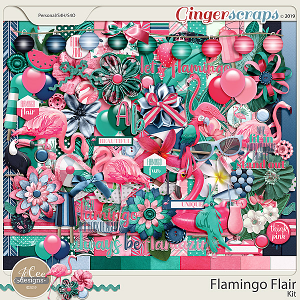 Flamingo Flair Kit by  JoCee Designs