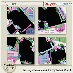 In my memories Templates Vol.1