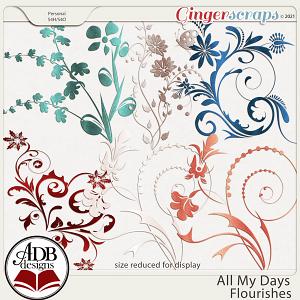 All My Days Flourishes by ADB Designs
