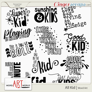 All Kid Word Art