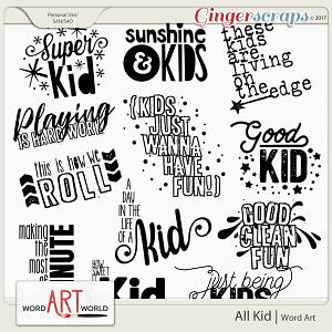 All Kid Word Art
