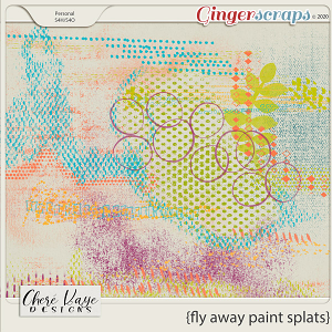 Fly Away Paint Splats by Chere Kaye Designs