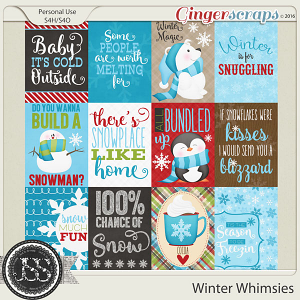 Winter Whimsies Journal and Pocket Scrap Cards
