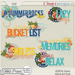 #2016 June - Word Art Pack