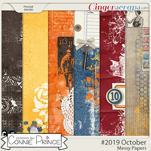 #2019 October - Messy Papers by Connie Prince
