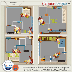 CU - Vacation Album: Leaf Peepers 3 by Miss Fish Templates