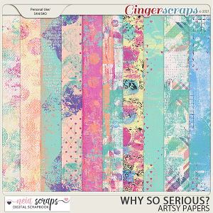 Why so Serious? - Artsy Papers - by Neia Scraps
