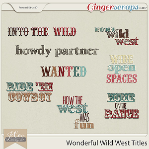 Wonderful Wild West Title Pack by JoCee Designs