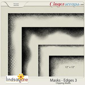Masks Edges 3 by Lindsay Jane