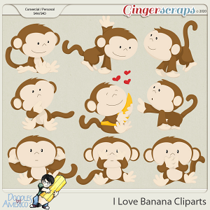 Doodles By Americo: I Love Banana Cliparts