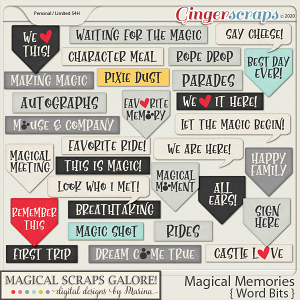 Magical Memories (word bits)