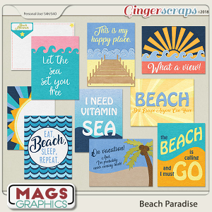 Beach Paradise JOURNAL CARDS by MagsGraphics