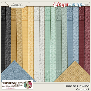 Time to Unwind Cardstock by Trixie Scraps Designs