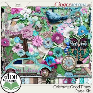 Celebrate Good Times Page Kit by ADB Designs